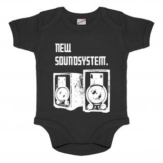 Baby Body New Soundsystem Fun Humor Musik Metal Rock Baby Strampler #34560