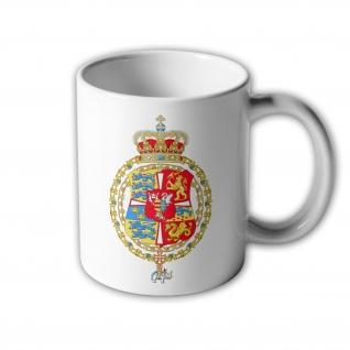 Tasse Königreichs Dänemark & Norwegen 1699-1819 Wappen König Friedrich #3002