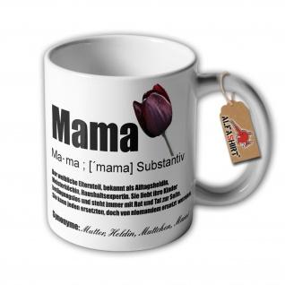 Tasse Mama Muttertag Mutter weibliches Elternteil Meisterköchin #34507