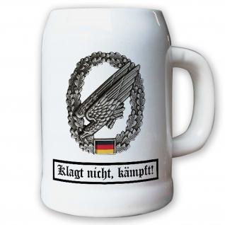 Krug / Bierkrug 0, 5l - Barettabezeichen Fallschirmjäger Falli FschJg #11813