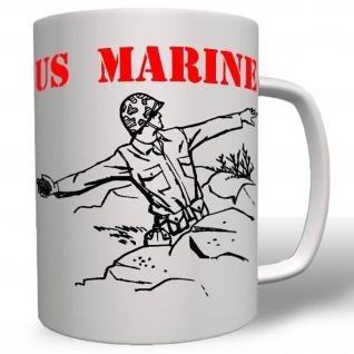 US Marine USA America Soldier Soldat Einheit Truppe Wappen Tasse #16772