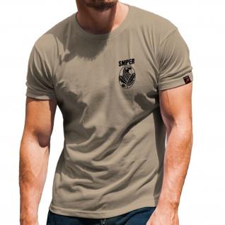 Sniper Scharfschütze Sportschütze Wappen Abzeichen Soldat Militär T Shirt #31369
