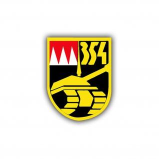 Aufkleber/Sticker Panzerbataillon 354 Wappen Emblem Abzeichen 7x5cm A776