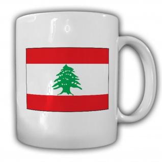 Libanon Fahne Flagge Libanesische Republik - Kaffee Becher Tasse #13680