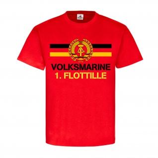 Volksmarine 1 Flottille NVA DDR Nationale Volksarmee Marine T Shirt #18394