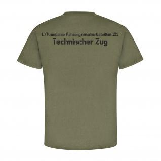 Technischer Zug 1Kp Pzgrenbtl 122 Bundeswehr Wappen Abzeichen - T Shirt #4135 - Vorschau 2