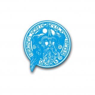 Odin, Raben und Runen Aufkleber Sticker Wikinger Gott 40x43cm A4964