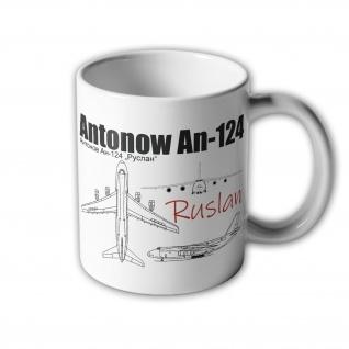 Tasse Antonow An-124 Ruslan Flugzeug Transportflugzeug Ukraine Russland #3190