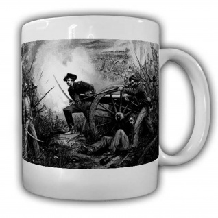 CSA Tasse Bürgerkrieg Vorderlader Kaffeebecher Amerika Western Revolfer USA#22579