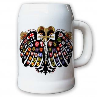Krug / Bierkrug 0, 5l - Quaternionenadler doppelköpfiger Adler Heiliges #9427 K