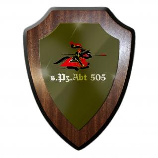 Wappenschild / Wandschild - sPzAbt 505 Schwere Panzerabteilung Bundeswehr Deutschland Panzer Einheit Militär Emblem #18897