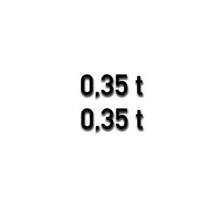 Gewicht Beschriftung Anhänger Tonnen Koffer Din Schirft Aufkleber 2cm#A5468