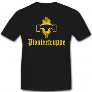 Deutsche Pioniertruppen Bundeswehr Einheit Wappen Abzeichen - T Shirt #2420