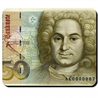 50 Mark Währung Deutsch Geldschein Banknote Bargeld Balthasar Mauspad #16346