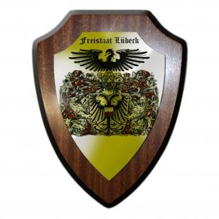 Wappenschild Freistaat Lübeck Hansestadt Wappen Abzeichen Tafel #20751
