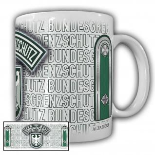 Tasse Oberwachmeister BGS Bundesgrenzschutz Wappen Abzeichen Adler #23695