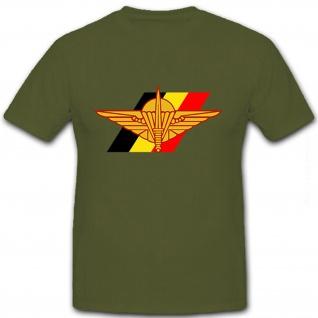 Belgische Fallschirmjäger Brigade Militär Wappen Abzeichen Emblem T Shirt #8600