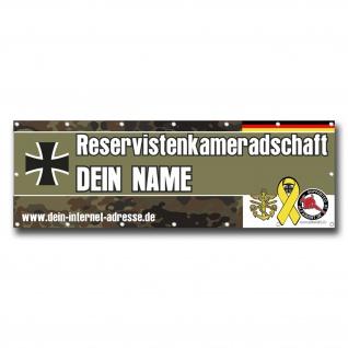 Banner Bundeswehr RK Reservistenkameradschaft Reservist PVC BW Werbung #24953 - Vorschau