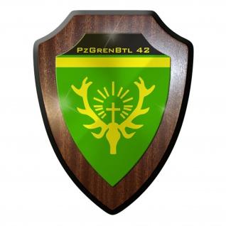 Wappenschild / Wandschild - Panzergrenadier Bataillon 42 PzGrenBtl #8985
