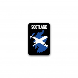 Aufkleber/Sticker Scotland Schottland Alba Edinburgh Land Umriss 5x7cm A2585