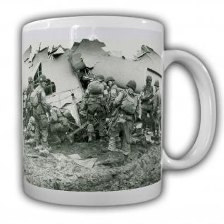 Tasse US Fliegertasse Soldaten Militär WW2 Army Airborne Normandie #22201
