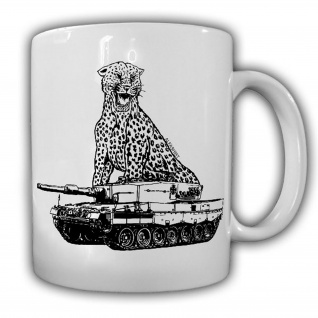 Tasse Leopard 2A4 Panzer Leo Tank BW Raubkatze PzBtl Bataillon Panzermann #23387