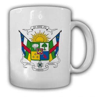 Tasse Zentralafrikanische Republik Wappen Emblem Kaffee Becher #14033