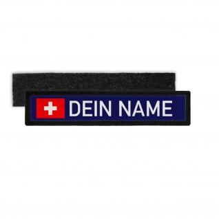 Dienst Namen-Schild Patch Feuerwehr Thw Rettungsdienst Klett Streifen #31684