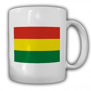Bolivien Fahne Flagge Bolivia Südamerika - Tasse Becher Kaffee #13418