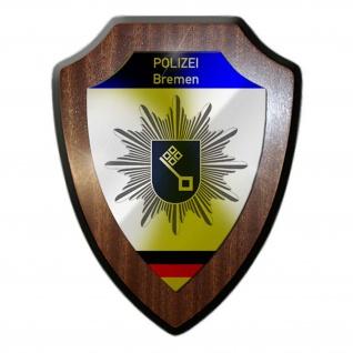 Wappenschild Polizei Bremen Wappen Abzeichen Hafen Dienstzeit Büro #23077