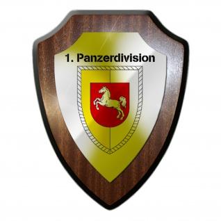 1 Panzerdivision PzDiv Bundeswehr Einheit Militär Wappenschild #19809