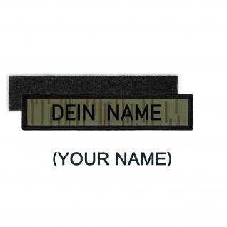 DDR NVA Namenschild Patch mit Namen Strichtarn Nationale Volksarmee #36365