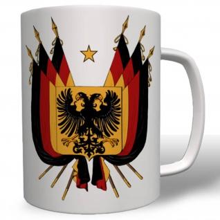 Deutschland Flagge Fahne Land BRD Schwarz Rot Gold Tasse # 16588