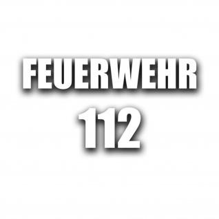 FEUERWEHR 112 Aufkleber Sticker Telefon Feuerwehrmann 1x 15x3cm 1x 5x3, 5cm#A4509