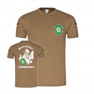 Tropenshirt 1 GebSanBtl 8 gebirgssanitätsbataillon kempten T-Shirt #34491