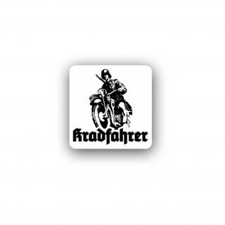 Kradfahrer Motorrad Oldtimer Bike Kradmelder Sticker Aufkleber 7x7 cm#A4144