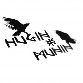 Hugin und Munin Odins Hrafnáss Rabengott Wikinger 15x13cm Aufkleber A5057