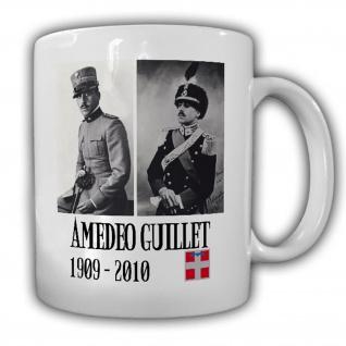 Tasse Amedeo Guillet Foto italienischer Offizier Kavallerieoffizier #14201