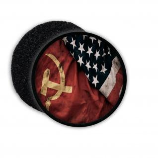 Patch Russia vs USA Russland Amerika Sowjetunion UDSSR CCCP Fahne Flagge #21774