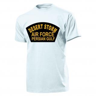 Desert Storm Luftwaffe Persischer Golf Golf Wappen Logo- T Shirt #3753