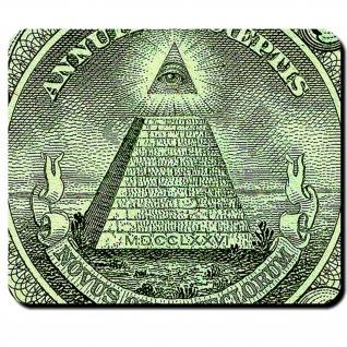 Dollar Ein-Dollar-Note Auge Novus Ordo Seclorum Pyramide Auge Mauspad #16350