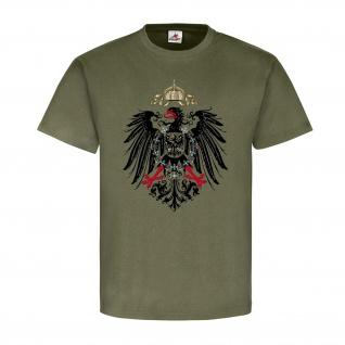 Preußen Adler Deutschland Militär Wappen Abzeichen - T Shirt #8509