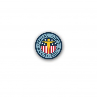 Aufkleber/Sticker Physical Fitness Excellence Badge USA Amerika 7x7cm A3155