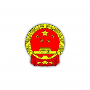 Aufkleber/Sticker China Wappen Abzeichen Emblem Volksrepublik China 7x6cm A1071