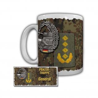 Tasse Panzertruppe General Panzer Leopard Richtschütze Rangabzeichen #29921