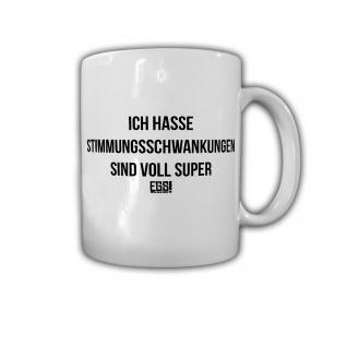 Stimmungsschwankungen Zwiespalt Humor Fun Spaß Super Frau Hormone Tasse #29116