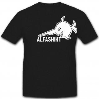 ALFASHIRT Logo Atlantik Sägefisch weiß U 96 - T Shirt #4569