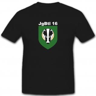 JgBtl 16 Jägerbataillon Bataillon Wappen Abzeichen Emblem - T Shirt #5444