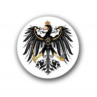 Preußischer Adler Preußen Wappen Sticker Heimat Deutschland 10x10cm #A4598