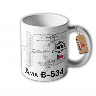 Tasse Avia B-534 Flugzeug Doppeldecker Tschechoslowakei Luftwaffe #32907